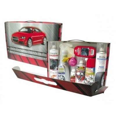 Coffret entretien auto 9 produits