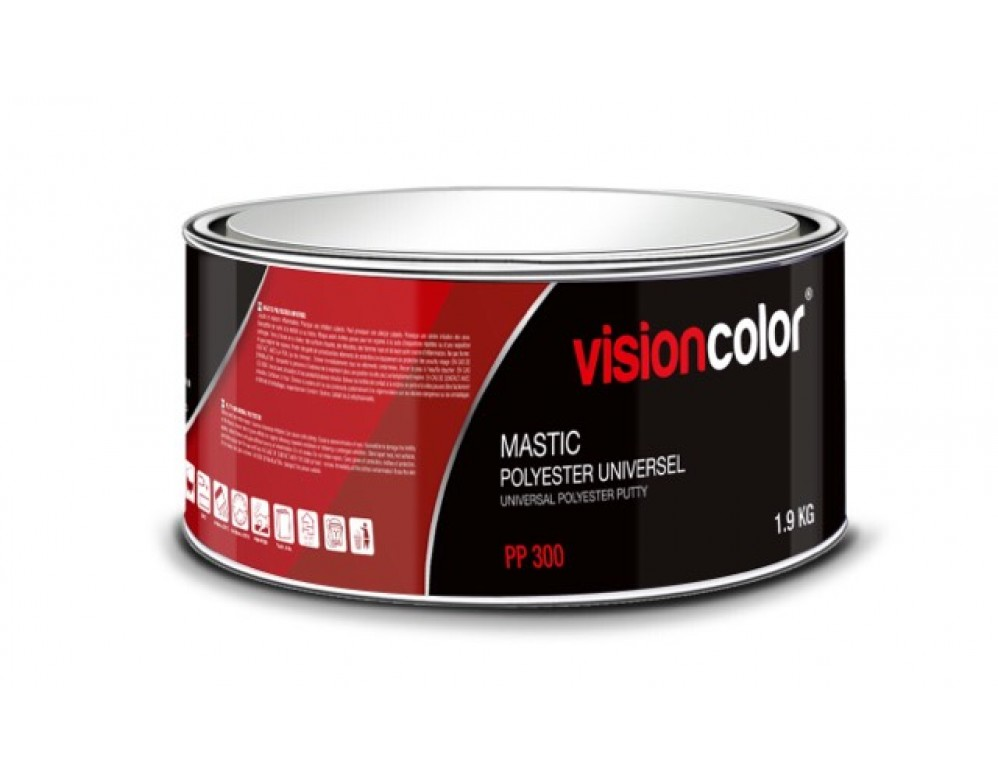 mastic carrosserie polyester universel 2kg visioncolor. Black Bedroom Furniture Sets. Home Design Ideas